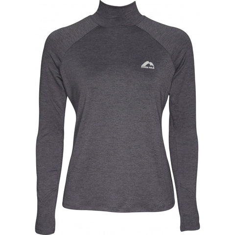 Charcoal Long Sleeve Funnel Neck Running Top