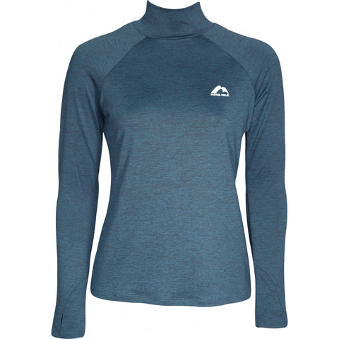 Blue Long Sleeve Funnel Neck Running Top