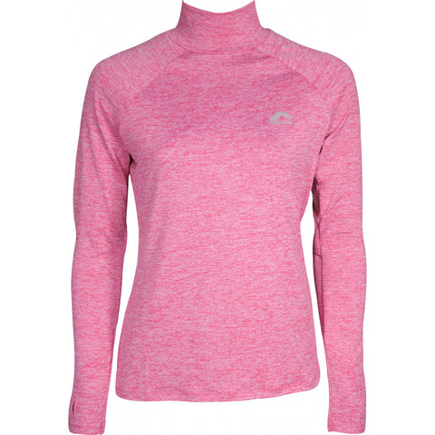 Pink Long Sleeve Funnel Neck Running Top