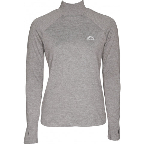 Grey Long Sleeve Funnel Neck Running Top