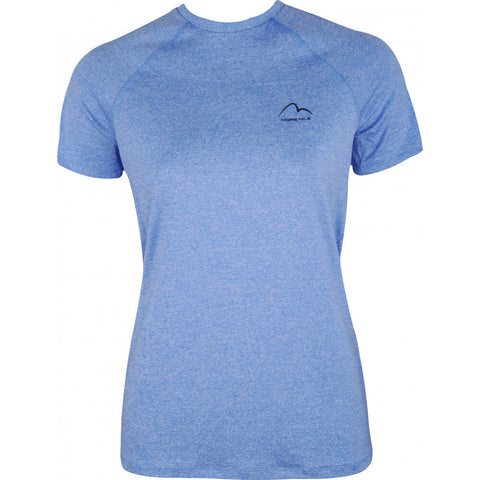 Train to run women's short sleeve running top - Blue