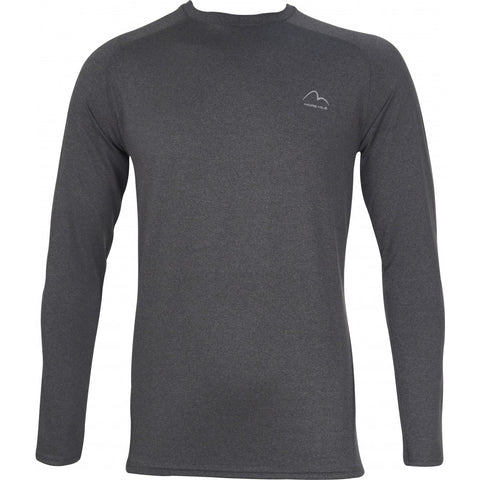 Charcoal Long Sleeve Running Top