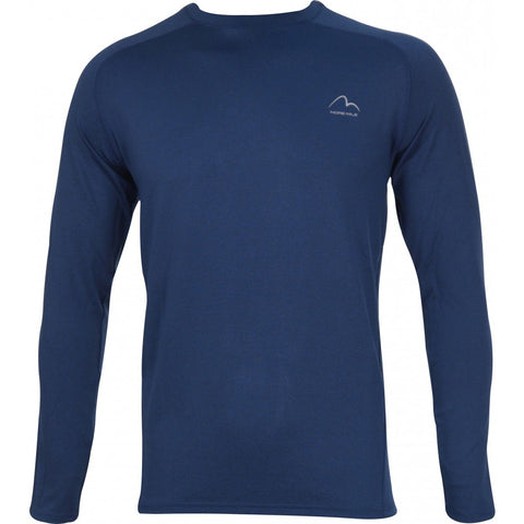 Blue Long Sleeve Running Top