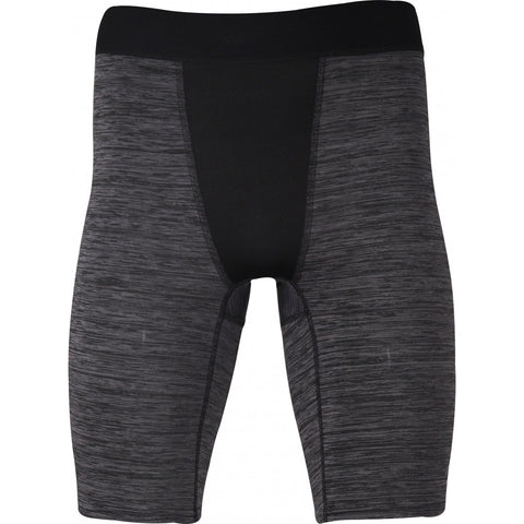 More Mile Train To Run Baselayer Mens Training Short Tights - Grey