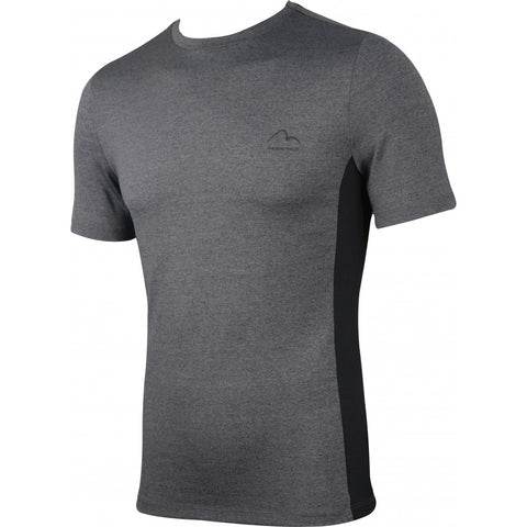 Grey Warrior Short Sleeve Mens Fitted Training Top