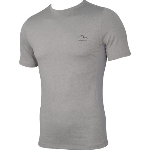 Light Grey Warrior Short Sleeve Mens Fitted Training Top