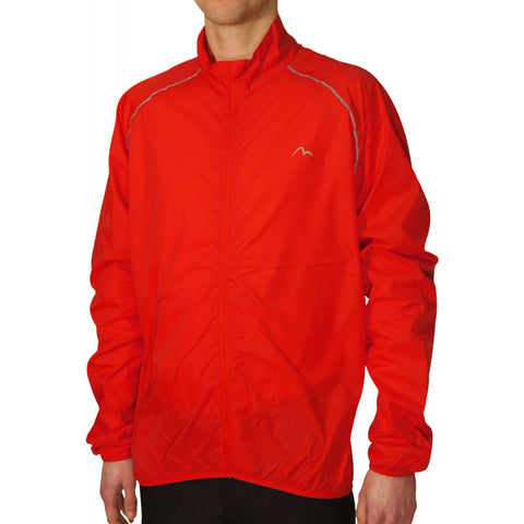 Red Reflective Wind and Light Rain Proof Running Jacket