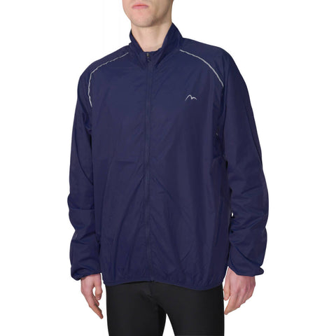 Navy Reflective Wind and Light Rain Proof Running Jacket - MySports and More