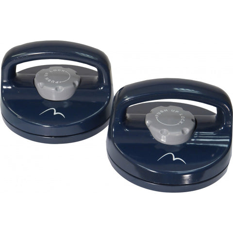 More Mile Rotating Push Up Bars - Blue