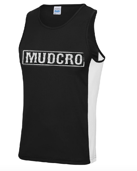 MUDCRO Mens Vest white panels