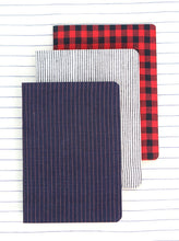 Louis Notebook - Blue & Saffron Stripes
