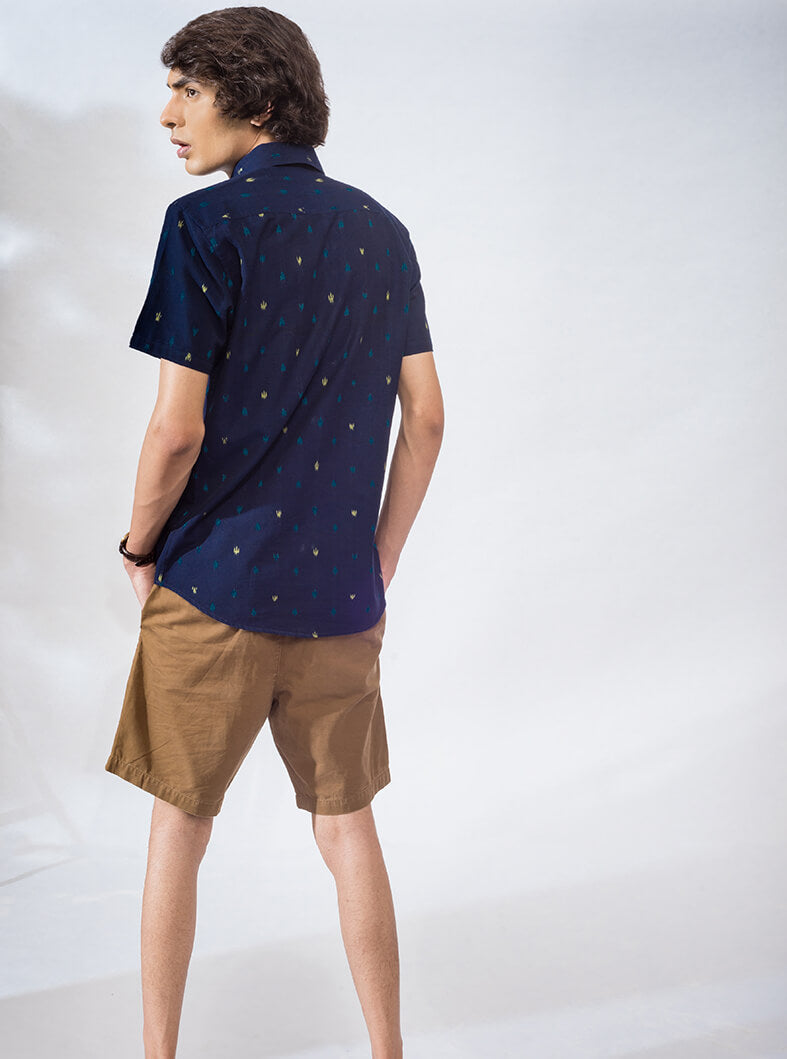 Arcade Half-Sleeved Oxford