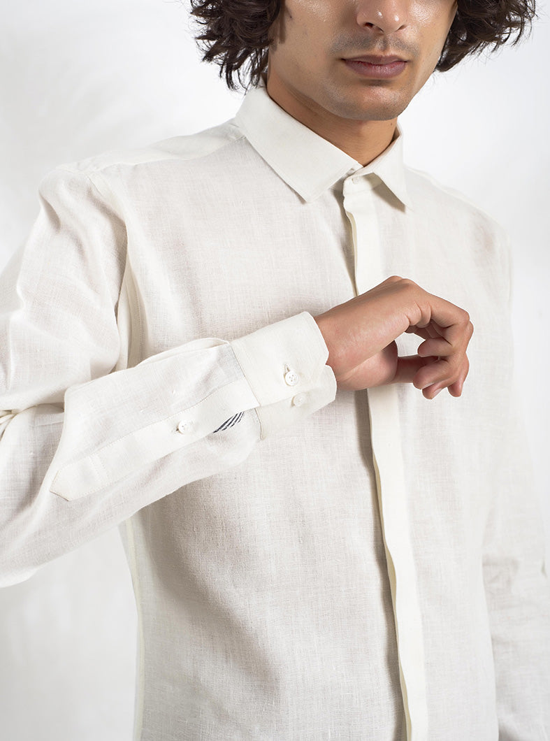 Safeyd Khadi Linen Oxford