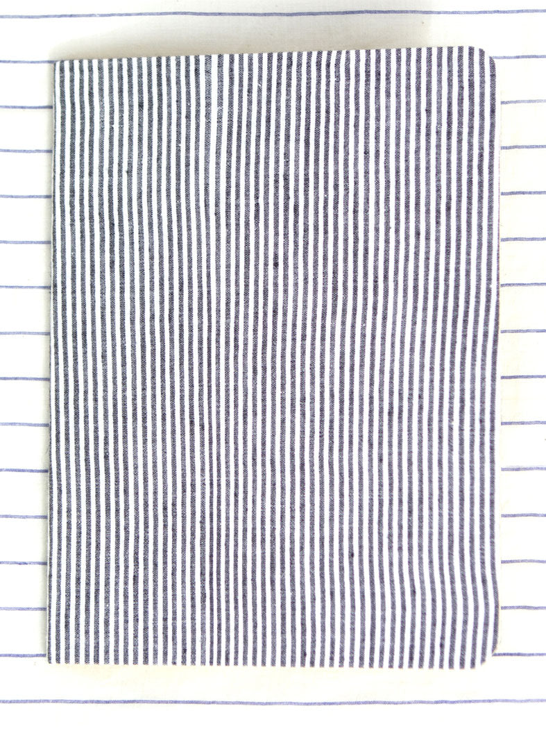 Louis Notebook - Grey & Black Stripes