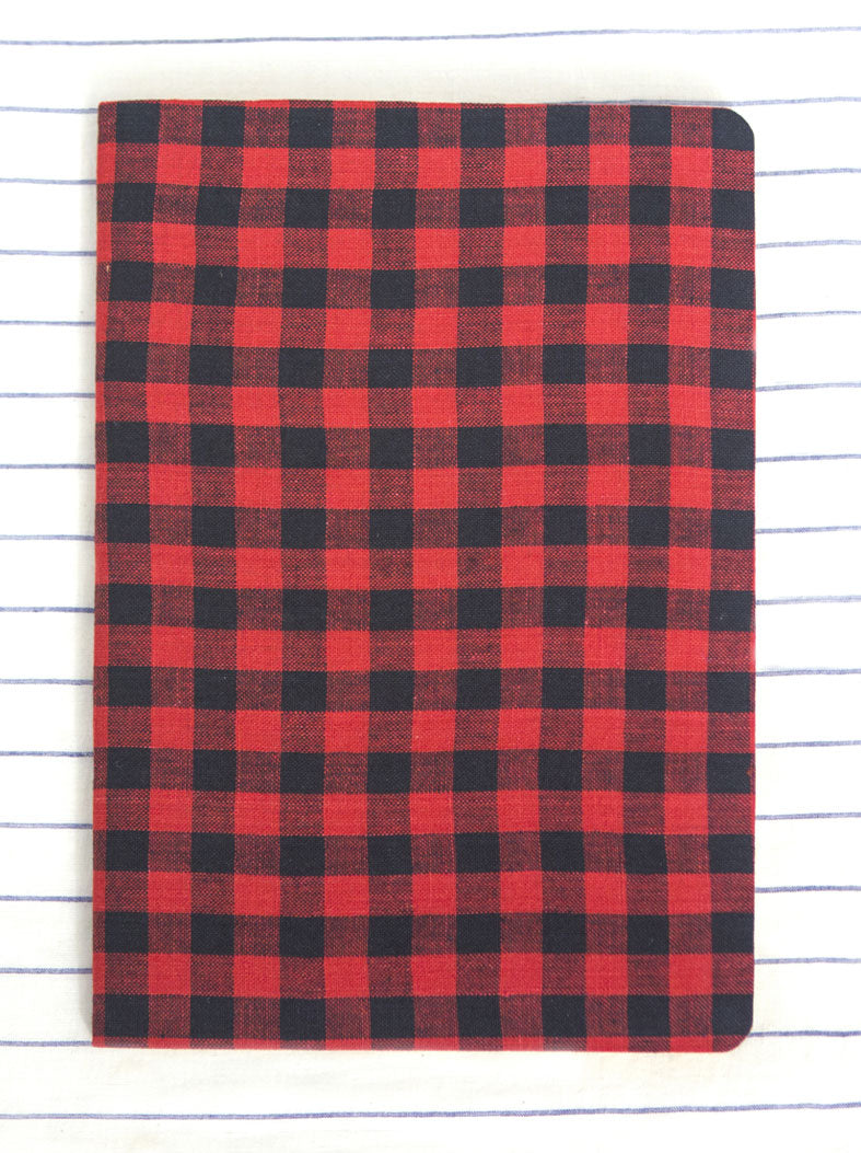 Louis Notebook - Lal Black Checks