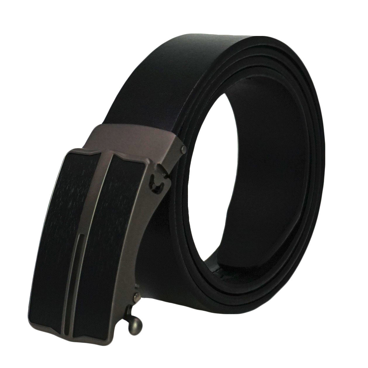 Men's Premium Formal Belt - Solid Top Grain Leather - Slide Ratchet Dress Belts