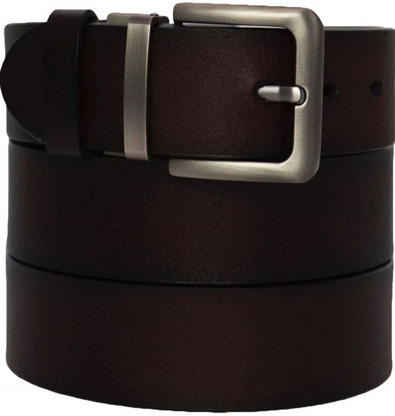 Men's Premium Formal Belt - Solid Top Grain Leather - Reversible Classic Dress Belts