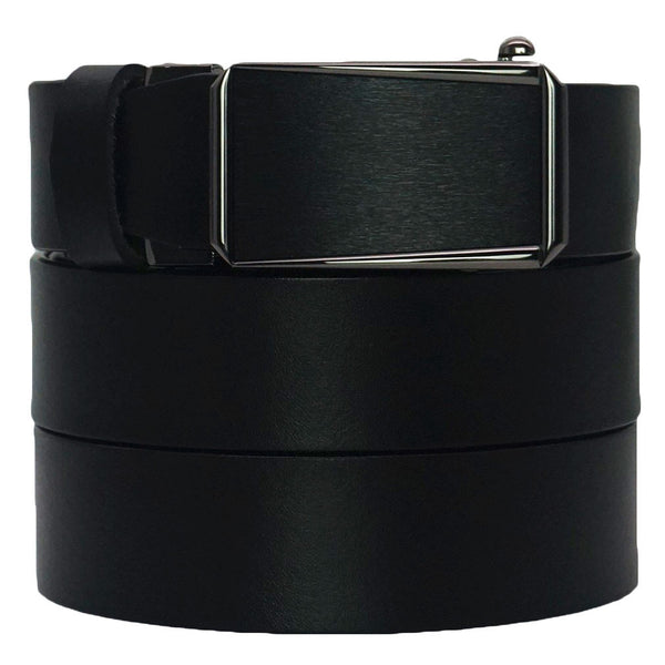 Just Pay Shipping Men's Premium Formal Belt - Solid Top Grain Leather - Slide Ratchet Dress Belts
