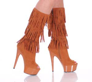 6' Micro Suede Fringe Boot