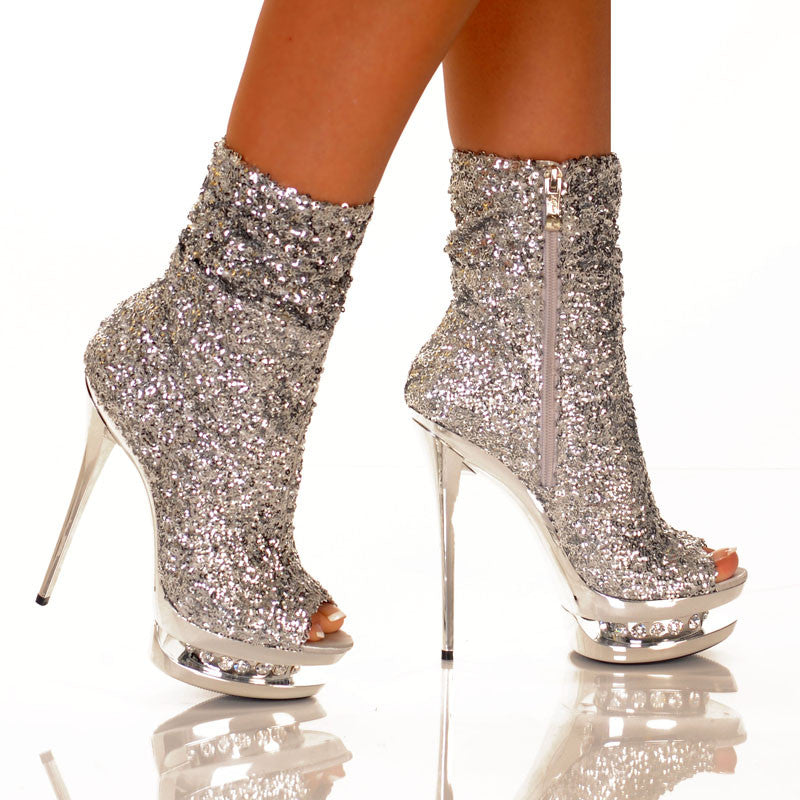 "5 1/2"" Open Toe Sequin"