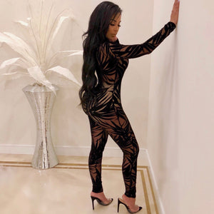 Party Time Mesh Jumpsuit