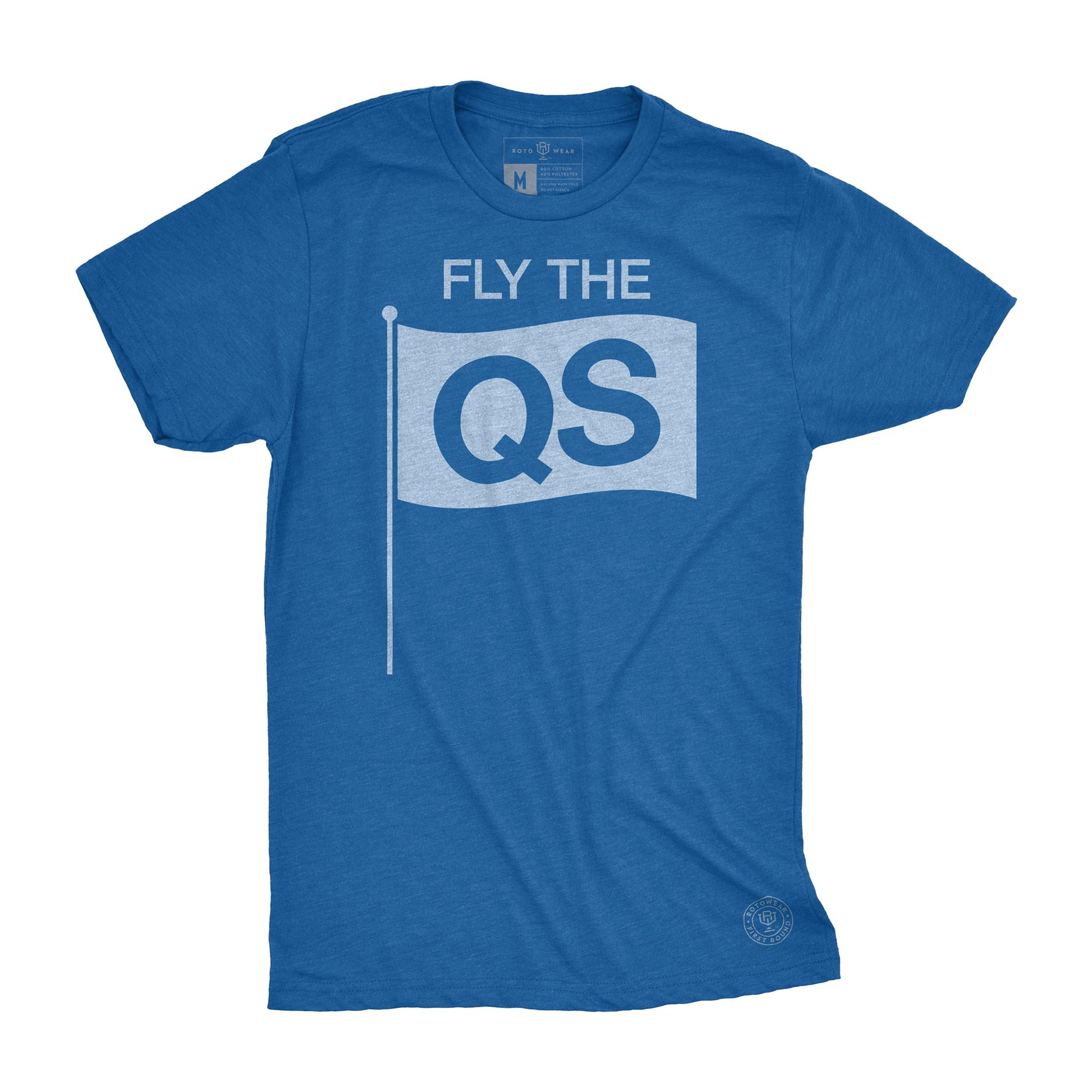 Fly The QS men's t-shirt by RotoWear for fantasy baseball managers and baseball fans who value quality starts over wins