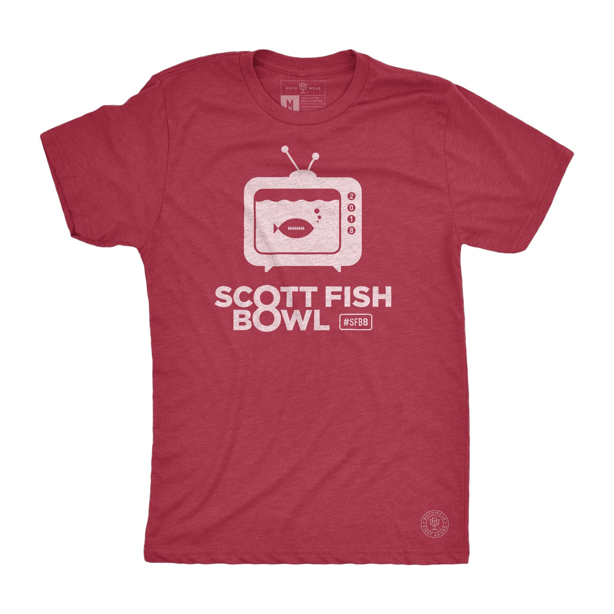 RotoWear's Scott Fish Bowl men's t-shirt for fantasy football managers is the official shirt of SFB8