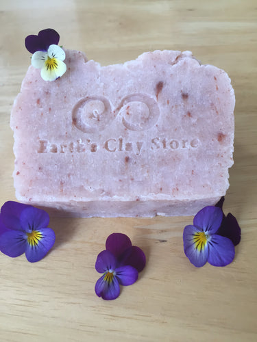 Geranium, Lime & Pink Clay Soap Bar