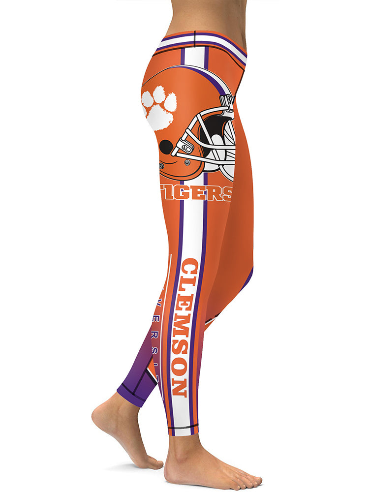 78b2f9927515b Clemson Printed Leggings & Yoga Pants High Quality – Global Fanatics