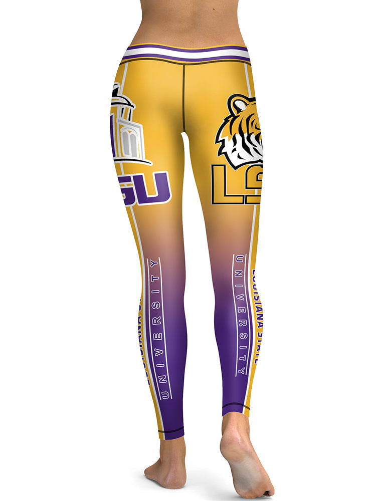 c78ac3f3ed53e LSU Printed Leggings & Yoga Pants High Quality – Global Fanatics