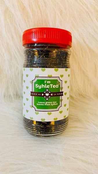 """ SylheTea"" - Loose leaves of green tea from Sylheat Bangladesh"