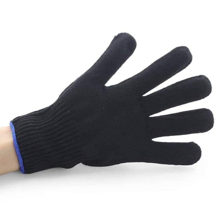 Professional heat resistant glove for hair