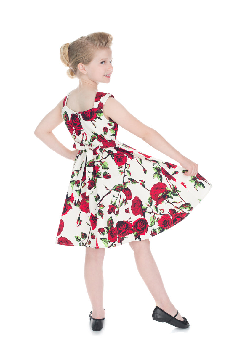 The Ditsy Rose Swing Dress (Girls)