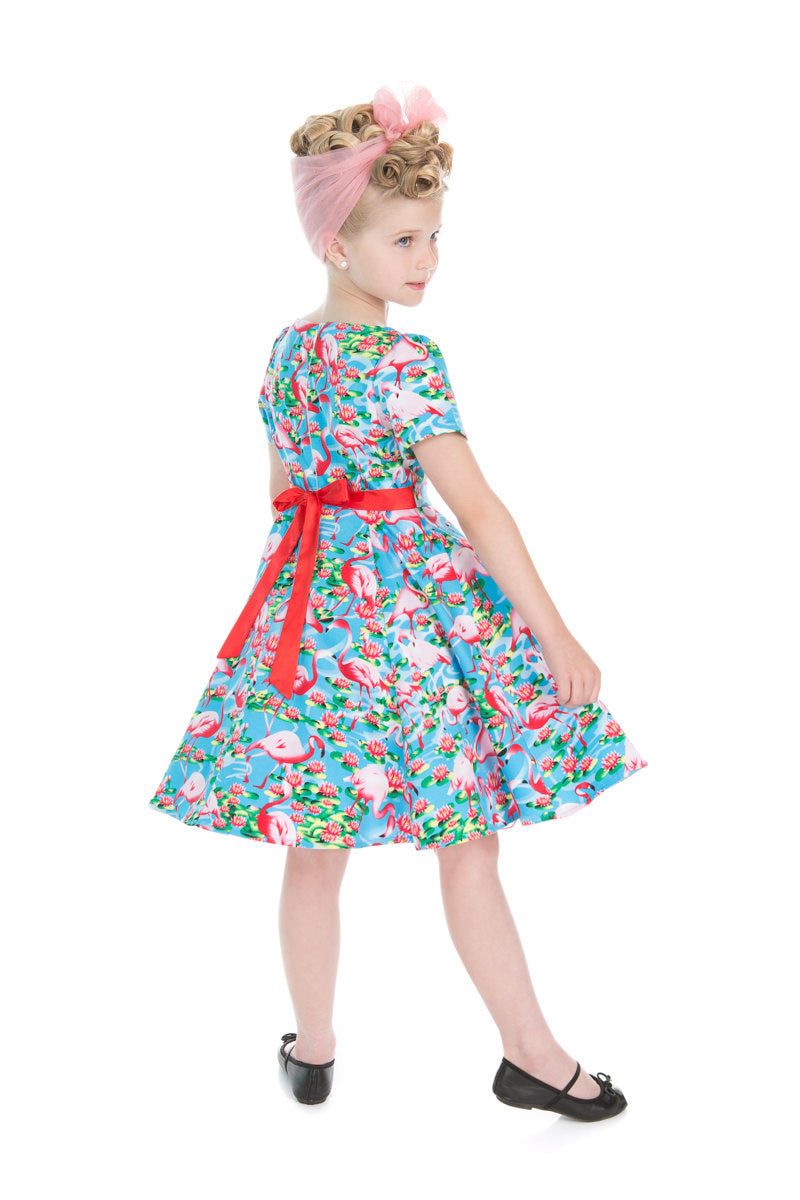 For Little Girls! The Pretty Flamingo Swing Dress!