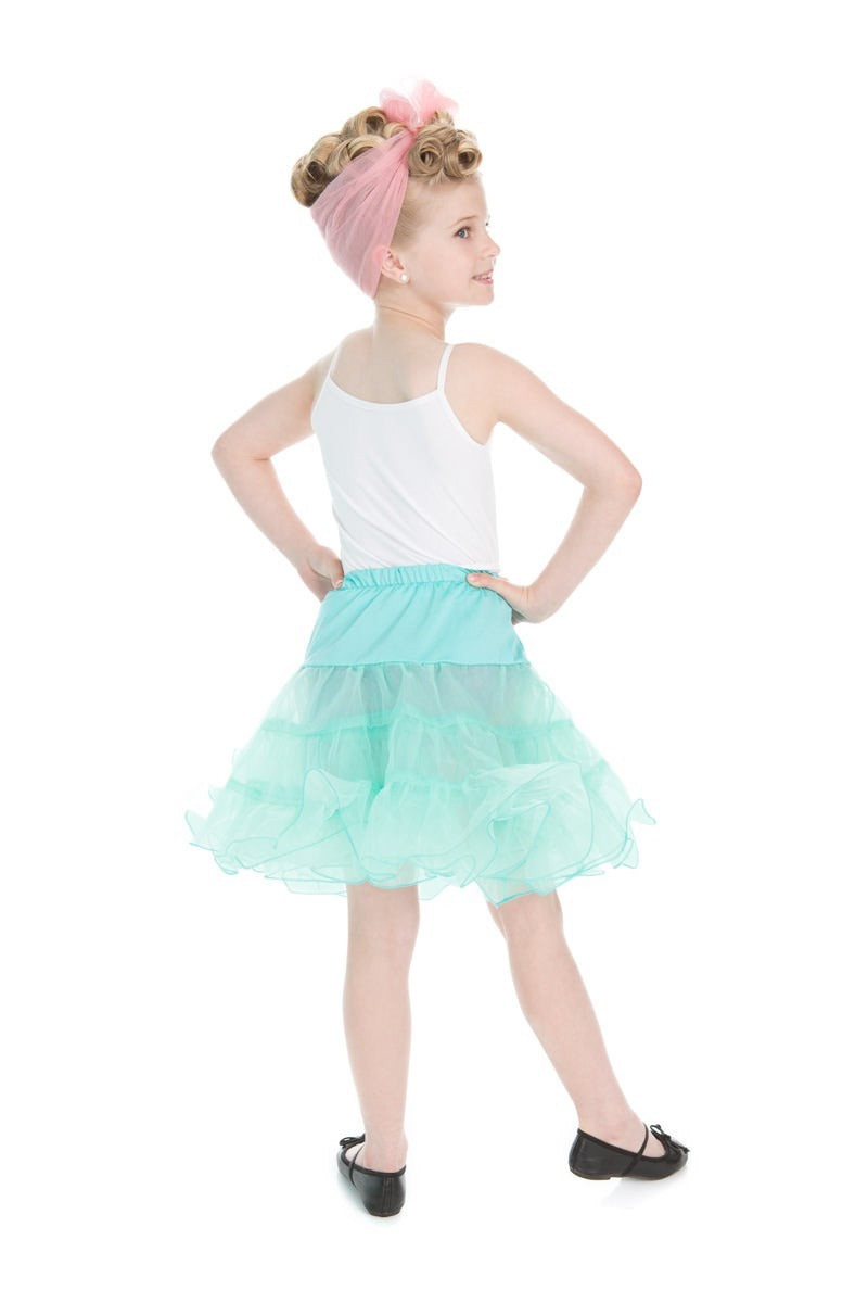 For Little Girls! Vintage Style Petticoat in Mint!