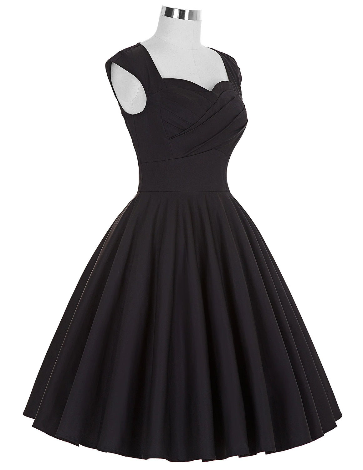 The Belle Dress in midnight black by Ponyboy Vintage Clothing!