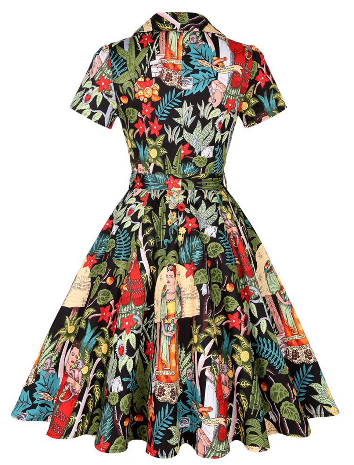 Frida Kahlo 'Frida's Garden' Print Swing Dress!