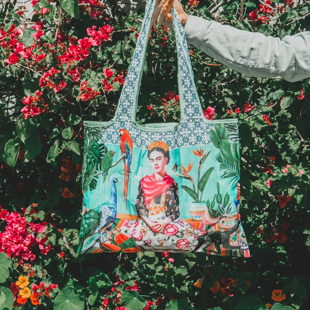 Frida's Paradise Foldable Tote Bag By Murilo Manzini