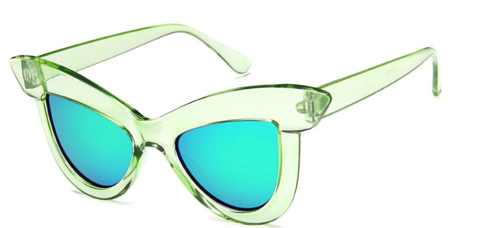 Ponyboy's Ava Classic 50's Sunglasses in Candy Apple Green!