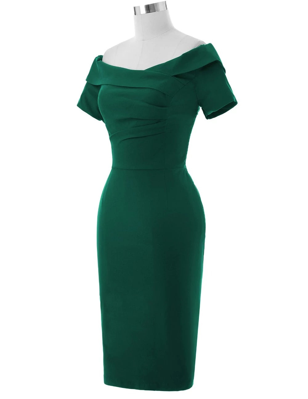 The Harlow Wiggle Dress in green by Ponyboy Vintage Clothing!