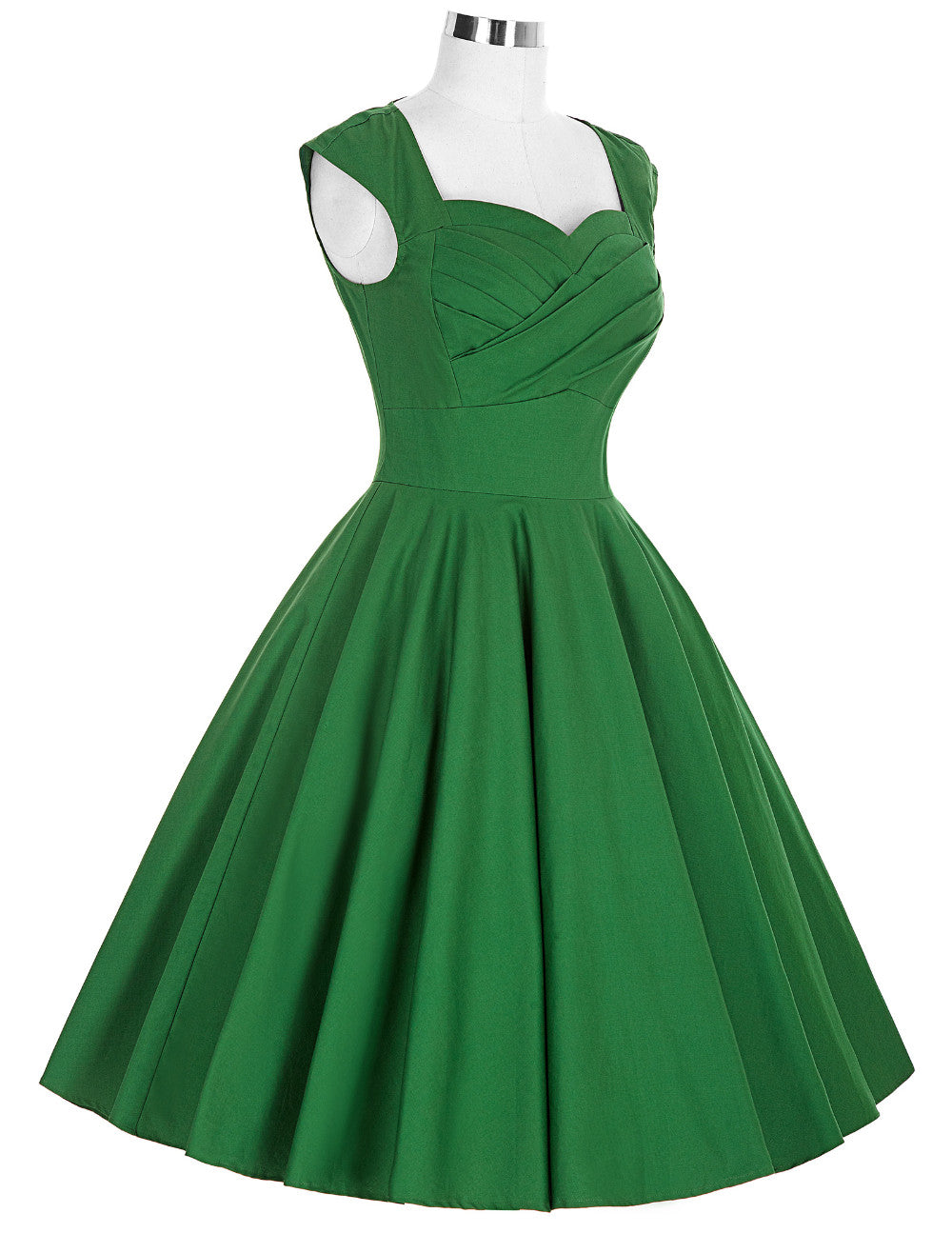 The Belle Dress in Dark Emerald Green by Ponyboy Vintage Clothing!