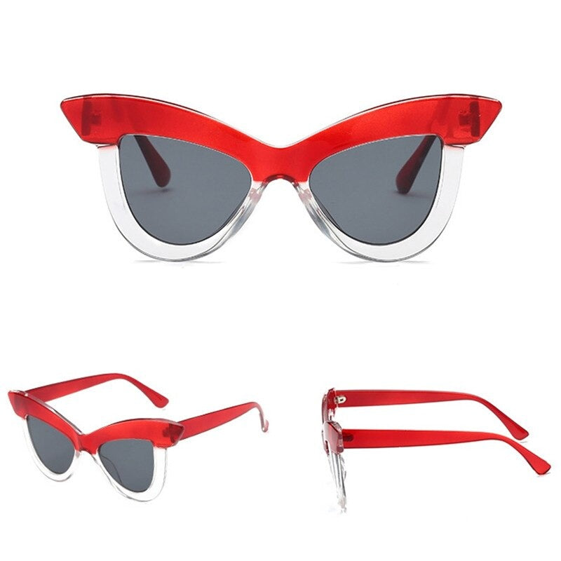 The Ava Classic 50's Sunglasses in ruby red and clear!