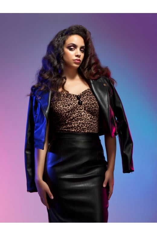 The Dolores Top in velvet leopard print - NOW ON SALE - LAST SIZE IN STOCK!