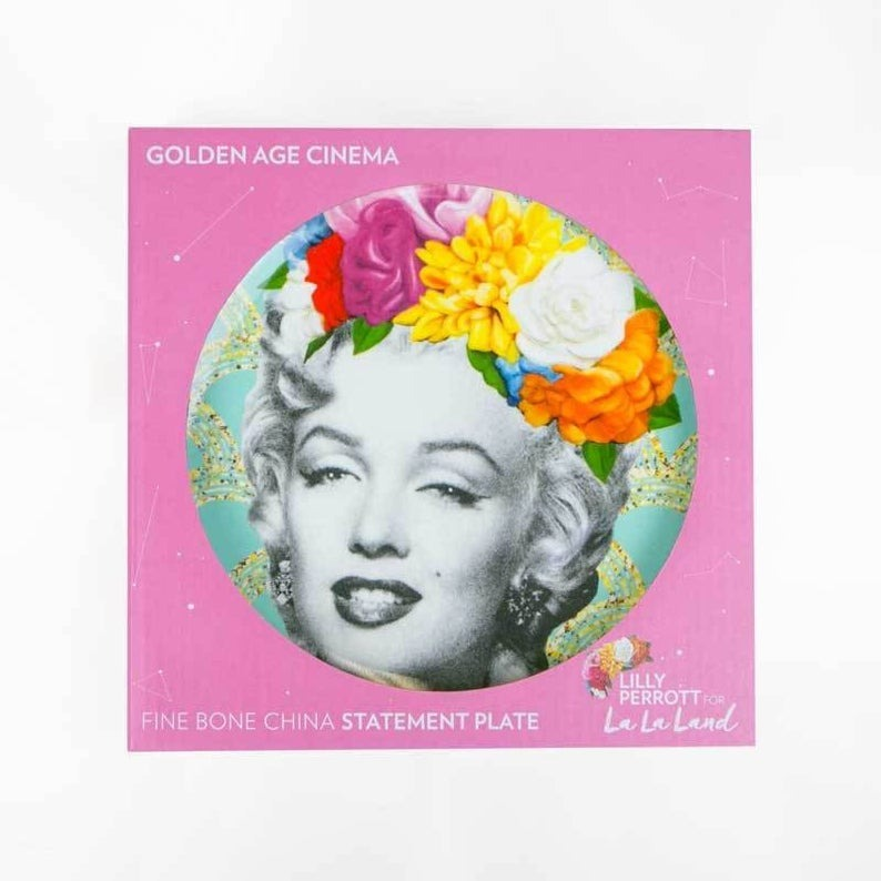 Limited Edition Marilyn Monroe Fine Bone China Plate by Lilly Perrott