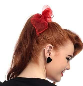 Velvet Heart Studs in Black by Collectif!