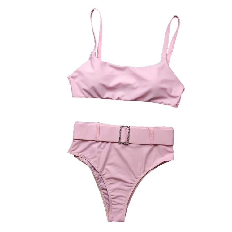 Secret Vacation 2 Piece Bikini High Waist In Pink