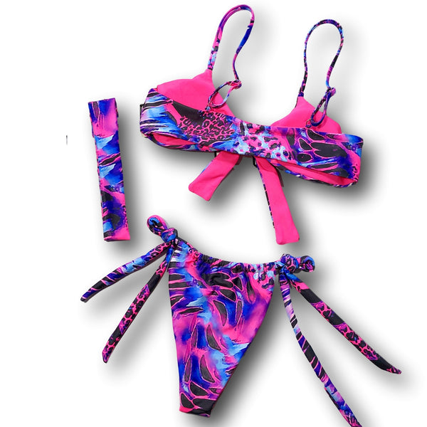 Safari Party 2 Piece Bikini With Head Band