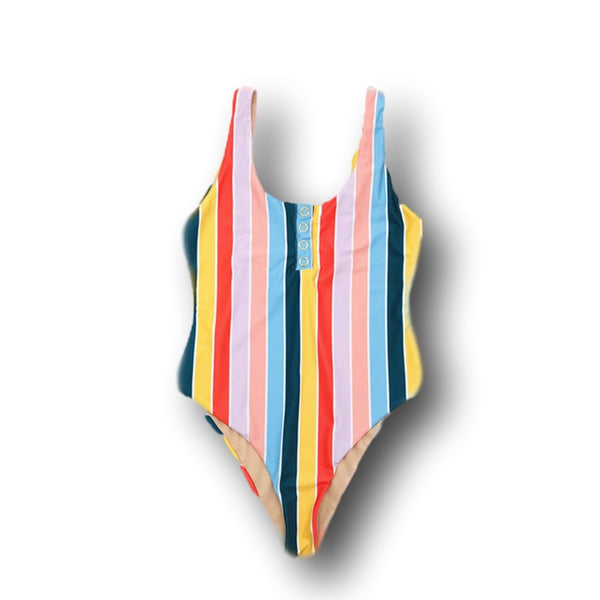 Vacation Stripes One Piece Swimsuit