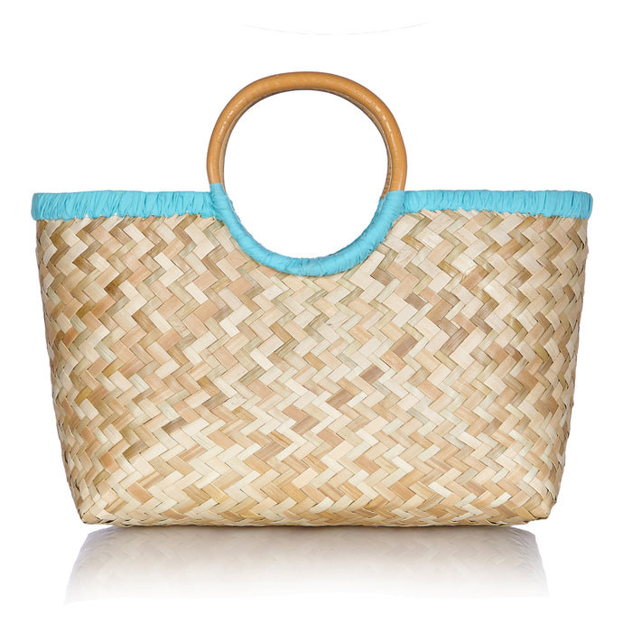 Island Life Basket in Blue Lagoon