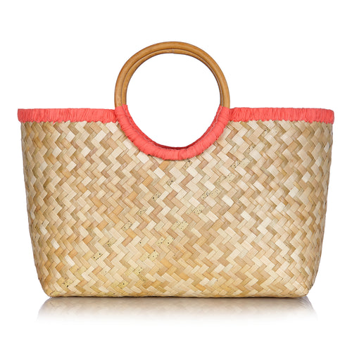 Island Life Basket in Coral Pink - MORE STOCK COMING SOON